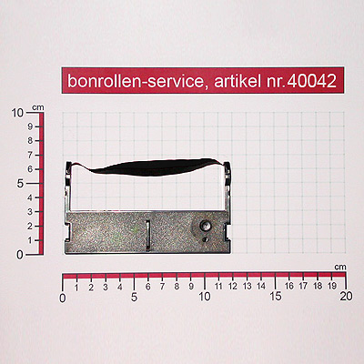 Detailansicht mit Rollenmaßen - Farbband-Kassetten ERC 39 - violett für Citizen CD-S500