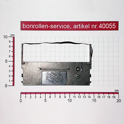 Detailansicht mit Rollenmaßen - Farbband-Kassetten Citizen DP-700 / IR-71 - violett für ADS-Anker ADS 34.132x