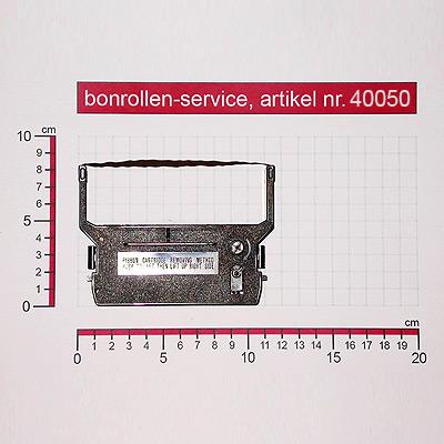 Detailansicht mit Rollenmaßen - Farbband-Kassetten ERC 03, Gruppe 637, reinigungsfest - schwarz für Omron RS 3010