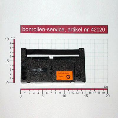Detailansicht mit Rollenmaßen - Farbband-Kassetten ERC 18, reinigungsfest - schwarz für Aster GA 919