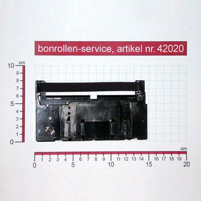 Skizze mit Rollenmaßen  - Farbband-Kassetten ERC 18, reinigungsfest - schwarz für Samsung SER 6540
